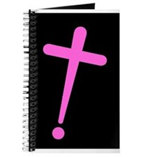 Exclamation-Cross pinkblack Journal