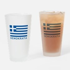 Demokratia Drinking Glass