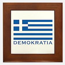 Demokratia Framed Tile