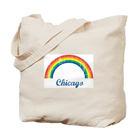 Chicago (vintage rainbow) Tote Bag