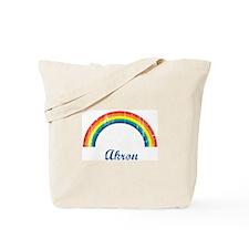 Akron (vintage rainbow) Tote Bag