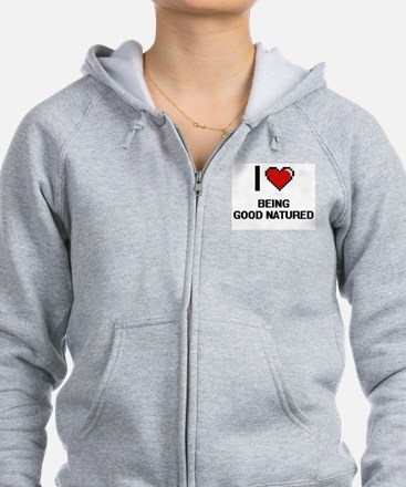 I Love Being Good Natured Digit Zip Hoodie