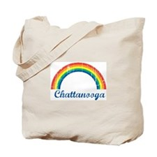 Chattanooga (vintage rainbow) Tote Bag