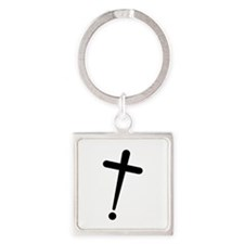 Exclamation-Cross Keychains