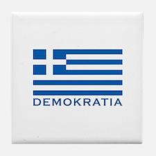 Demokratia Tile Coaster
