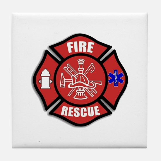 Fire Rescue Tile Coaster