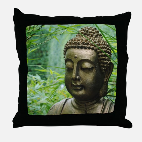Buddha in the Forest Throw Pillow