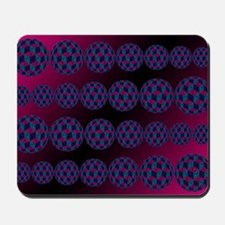 Spherized Pink, Purple, Blue and Black H Mousepad