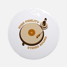 High Fidelity Round Ornament