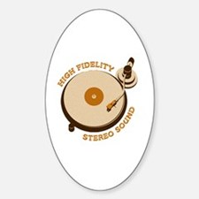 High Fidelity Sticker (Oval)
