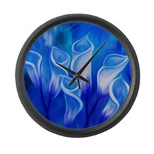 Ghost Lilies Large Wall Clock