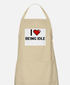 I Love Being Idle Digitial Design Apron