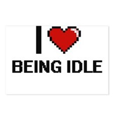 I Love Being Idle Digitia Postcards (Package of 8)