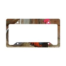 Crowing Rooster License Plate Holder