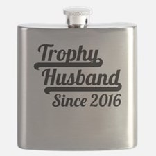 Trophy Husband Since 2016 Flask