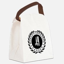 World's Greatest Barber Canvas Lunch Bag