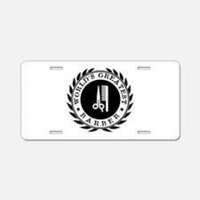 World's Greatest Barber Aluminum License Plate