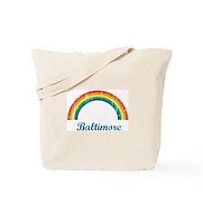 Baltimore (vintage rainbow) Tote Bag