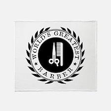 World's Greatest Barber Throw Blanket