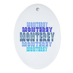 Monterey Oval Ornament
