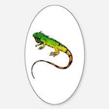 Green Iguana Sticker (Oval)