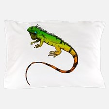 Green Iguana Pillow Case