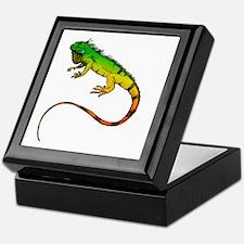 Green Iguana Keepsake Box