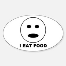 I Eat Food Oval Decal