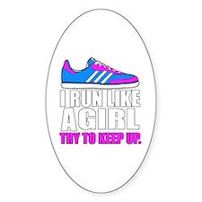 Run Like A Girl  Bumper Stickers