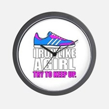 Run Like A Girl  Wall Clock