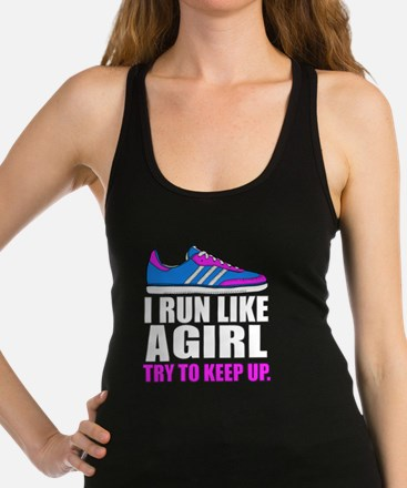 Run Like A Girl  Racerback Tank Top