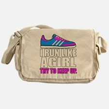 Run Like A Girl  Messenger Bag