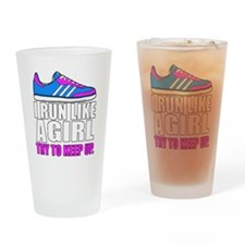 Run Like A Girl  Drinking Glass