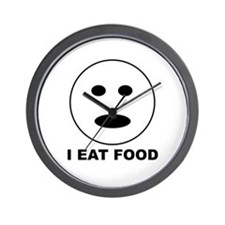 I Eat Food Wall Clock