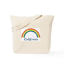 California (vintage rainbow) Tote Bag