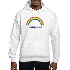 California (vintage rainbow) Hoodie
