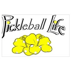 Pickleball Life Pickleball Flower Canvas Art