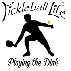 Pickleball Life Playing the Dink Canvas Art