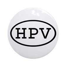HPV Oval Ornament (Round)