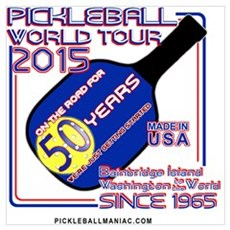 Pickleball Tour Canvas Art