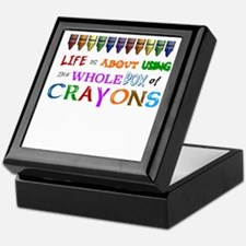 COLORING - LIFE IS ALL ABOUT USING TH Keepsake Box