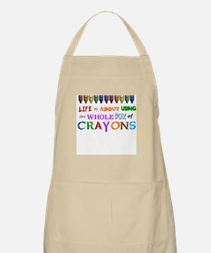 COLORING - LIFE IS ALL ABOUT USING THE WHOLE Apron