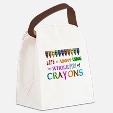 COLORING - LIFE IS ALL ABOUT USIN Canvas Lunch Bag
