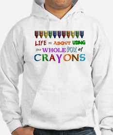 COLORING - LIFE IS ALL ABOUT USI Hoodie