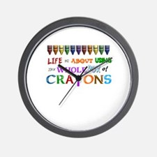 COLORING - LIFE IS ALL ABOUT USING THE  Wall Clock