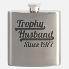 Trophy Husband Since 1977 Flask