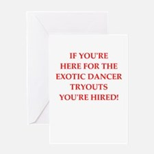 exotic dancer Greeting Cards