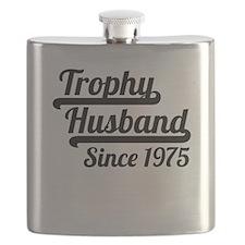 Trophy Husband Since 1975 Flask