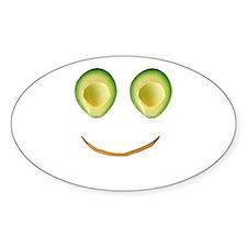 Cute Avocado Face Rieko's Fave Decal
