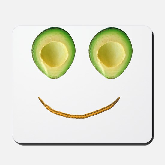 Cute Avocado Face Rieko's Fave Mousepad